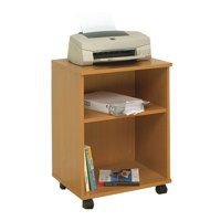 Jemini Mobile PC Printer/Storage Stand Beech