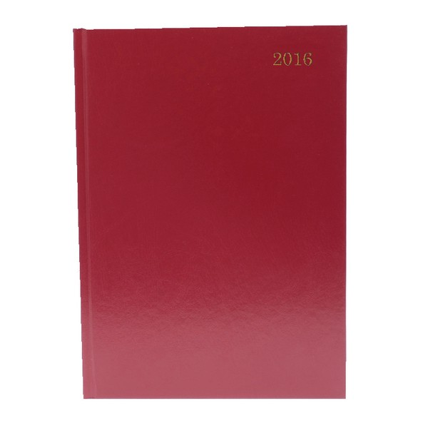 Burgundy A5 2016 Daily Appointment Diary