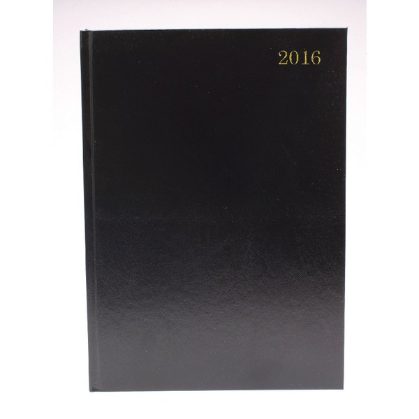 Black A5 2016 Daily Appointment Diary