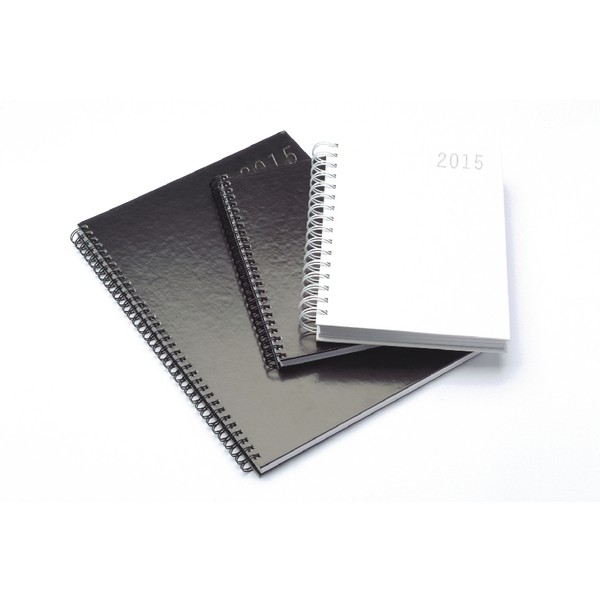 Condiary Black A5 2015 Twin Wire Diary