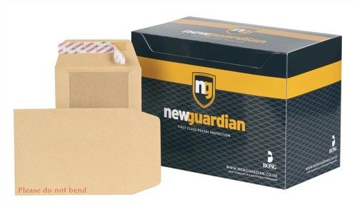 New Guardian Envelopes Heavyweight Board-backed Peel and Seal Manilla 190x140mm [Pack 125]