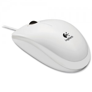 Logitech B110 Optical USB Mouse White 910-001804