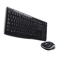 Logitech MK260 Keyboard and Mouse Desktop Set Compact Wireless Black Ref 910-002997