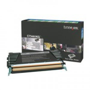 Lexmark C734A1KG RTN Black Toner