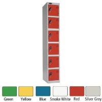 Image for Lion Steel 6 Door Locker 305x460mm Red 701218/6