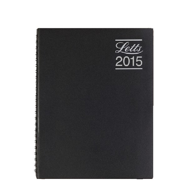 Letts Rhino Black A5 2015 Day to Page Appointment Book 5-TR1XABK