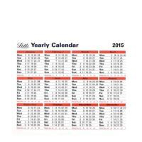 Letts 2015 Yearly Calendar (Pack of 1) 5-TYC