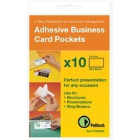 Pelltech self adhesive business card pocket 60x95mm pack of 100 pelltech self adhesive business card pocket 60x95mm pack of 100 plh10141 colourmoves