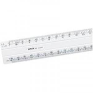 Linex Scale Rule Flat 1:20:500 300mm White 434 LXH
