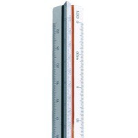 Linex Scale Rule Triangular 1-15-100 300mm White 318 LXH
