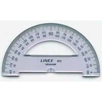 Image for Linex College 100mm Semi-Circular Protractor LX0110