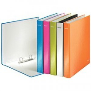 Leitz WOW Ring Binder A4 Maxi 2 D-Ring Size 25mm for 250 Sheets Assorted