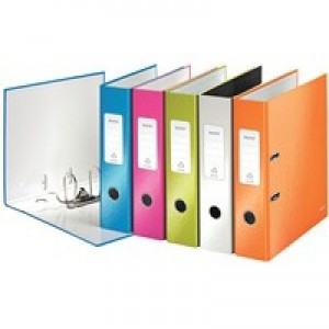 Leitz Wow Lever Arch File A4 80mm Assorted Pk 10 10050099