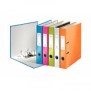 Leitz Wow Lever Arch File A4 50mm Assorted Pk 10 10060099