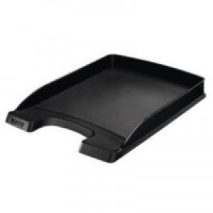 Leitz Plus Slim Letter Tray Black 52370095