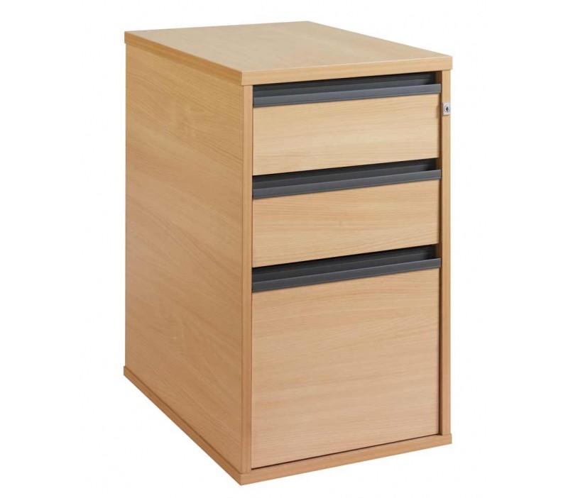 Maestro25 Desk Hgh 3 Drw 600 Beech