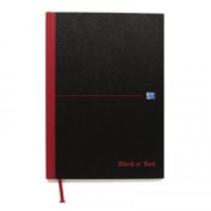 Black n Red Book Casebound 90gsm Single Cash 192pp A4 Ref 100080537 [Pack 5]