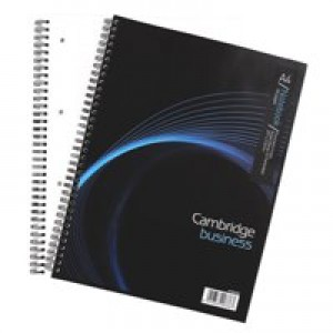 Cambridge Notebook Wirebound Punched 4 Holes 90gsm Ruled and Margin 160 Pages A4 Code 100080545