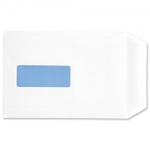 5 Star Envelopes Pocket Press Seal Window 90gsm White C5 [Pack 500]