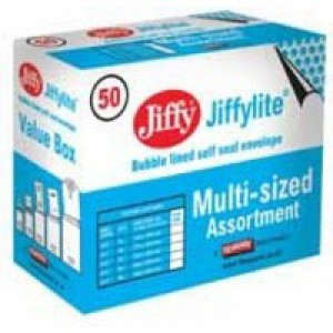Jiffy Padded Bag Gold Assorted Sizes Pack of 50 JPB-SEL