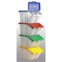 Image for Barton Multi-Functional Storage Container with Assorted Colour Lids Pack 4 052100/4 P