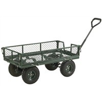 Image for Barton 4-Sided Mesh Platform Truck Green TT4S
