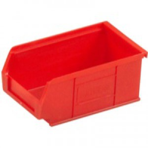 Barton TC2 Small Parts Container Semi-Open Front Red 1.27 Litre 165x100x75mm Pack of 20 010022