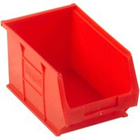 Image for Barton TC3 Small Parts Container Semi-Open Front Red 4.6 Litre 150x240x125mm Pack of 10 010032