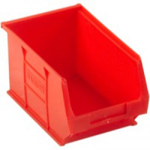 Barton Small Parts Container Open Front Red 3.4 Litre 150x240x125mm 010032