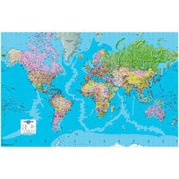 Image for Map Marketing Giant World Political Laminated and Framed Map GWLDF