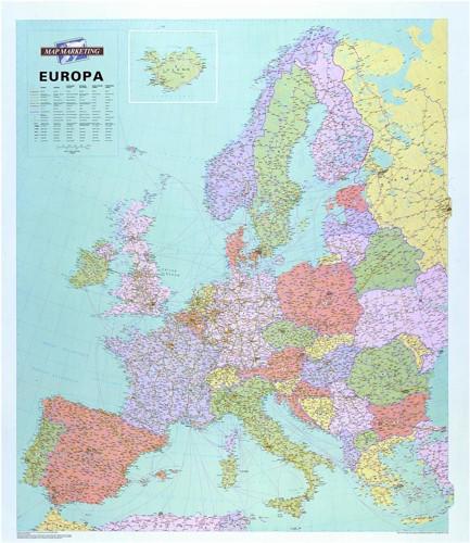 Map Marketing Europe Political Laminated Map