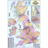 Map Marketing Counties and Unitary Authorities Laminated Map BIC