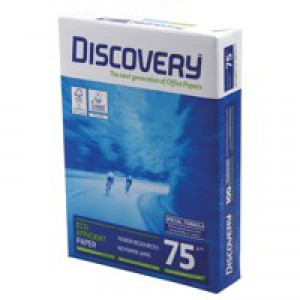 Discovery A4 75Gsm White Paper Pack of 500 59908