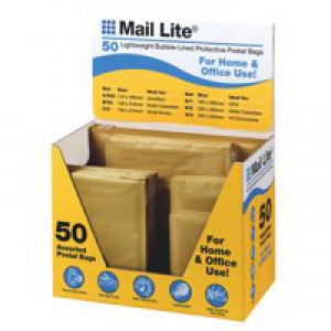 Sealair Gold Mail Lite Envelope Assorted Sizes Pack of 50