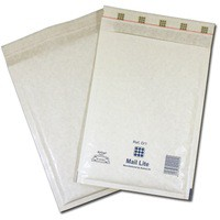 Mail Lite Bubble-Lined Postal Bag Self-Seal White 220x260mm Pack of 100 MLW E/2