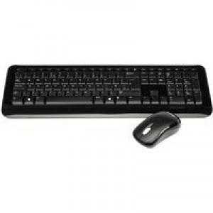 Microsoft 800 Wireless Desktop Keyboard and Optical Mouse 2.4GHz Black Ref 2LF-00021