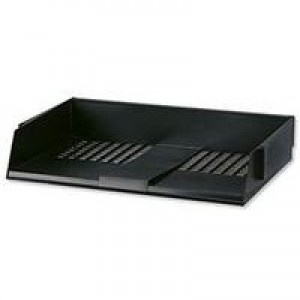 Avery Wide Entry Letter Tray Black W44