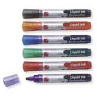 Nobo Liquid Ink Dry Wipe Marker Assorted Pack of 12 1901072