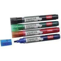 Nobo Liquid Ink Dry Wipe Marker Assorted Pack of 6 1901077