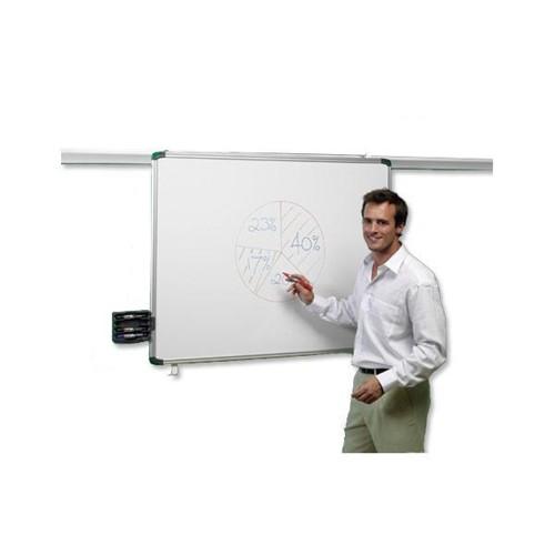 Nobo Pro Rail Dry Wipe Board 1800x900mm 1901232