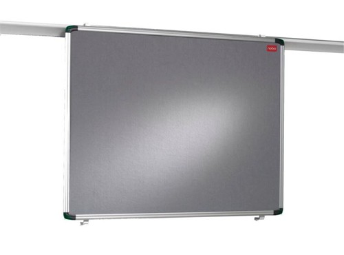 Nobo Pro Rail Notice Board Grey 1901236