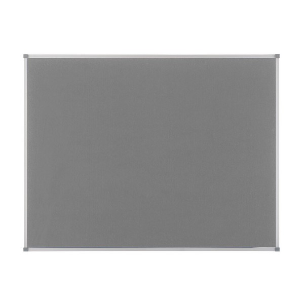 Nobo Elipse Notice Board Felt 1800x1200mm Grey 1900913
