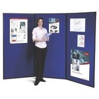 Nobo Showboard Extra Display 3 Panels 9.5Kg W1800xH2700mm-Open Sides Blue and Grey Ref 1901710