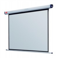 Image for NOBO 200CM ELECTRIC SCREEN PLUG/PLAY WHT