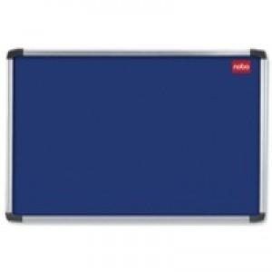 Nobo Notice Board 2400x1200mm Aluminium Frame Blue AF84 30230185