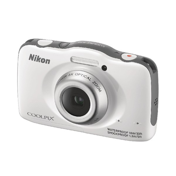 Nikon White Coolpix S32 Waterproof Digital Camera VNA580E1