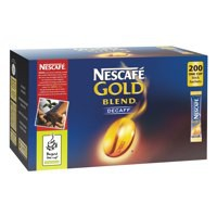 Nescafe Gold Blend Decaffeinated Coffee One Cup Stick Sachet Pack of 200 5219615