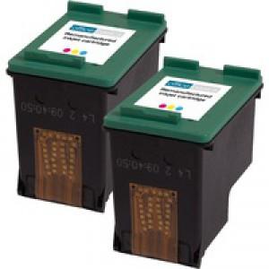 Office Basics HP No343 Inkjet Cartridge Tri-Colour Pack of 2 CB332EE