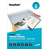 Image for Postsafe Extra-Strong Polythene Envelope C3 335x430mm Opaque Peel and Seal Pack of 100 P32