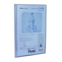 Pentel Recycology Display Book A4 Clear 20-Pocket Blue DCF242C